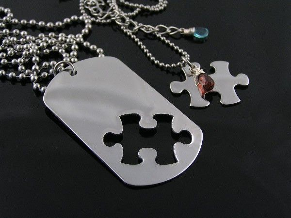 b9e8d42094 Matching couple necklace with puzzle piece. | Jewelry | Couple necklaces,  Jewelry, Matching necklaces for couples