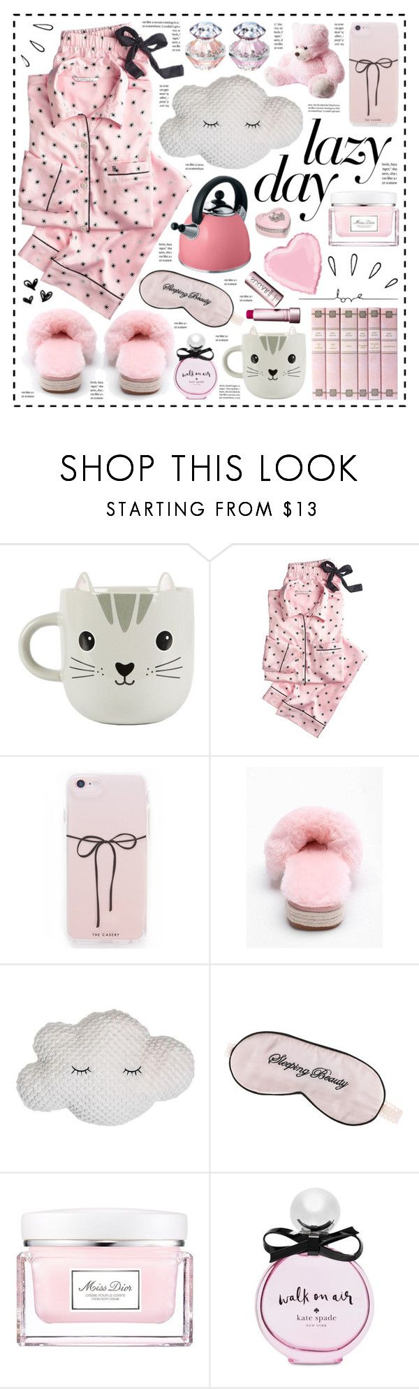 """Love for Lazy Day!"" by hennie-henne ❤ liked on Polyvore featuring Sass & Belle, Victoria's Secret, Kuhn Rikon, Mary Green, Christian Dior, Kate Spade and Old Navy"