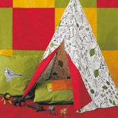 Ikea TEEPEE DIY, So easy I am going to give it a try! ... Finally....a pattern that looks like I can do it without feeling like I want to scream.  Step by step directions.  Whew!