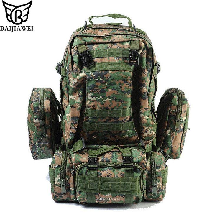 $99.95 | Combined Bags 60 Liters Large Capacity Multi-function Men's Travel Bag Backpack Set Trekking Rucksacks