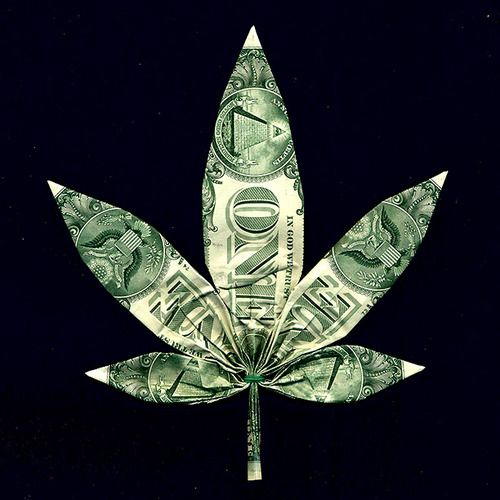 Ornament – Origami Dollar Bill Leaf