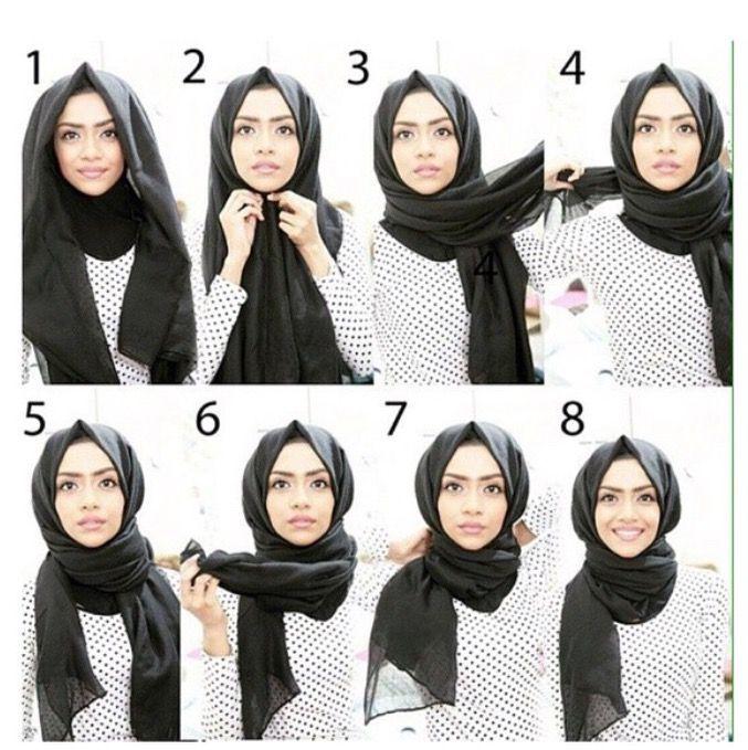 Trendy hijab style