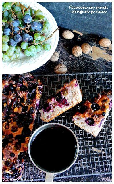 Kitchening: Focaccia cu must, struguri şi nuci