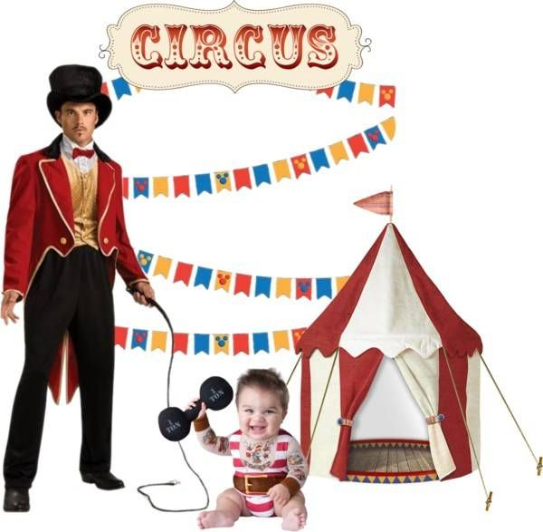 Father-Son Costume Ideas - Circus #Halloween #costumes