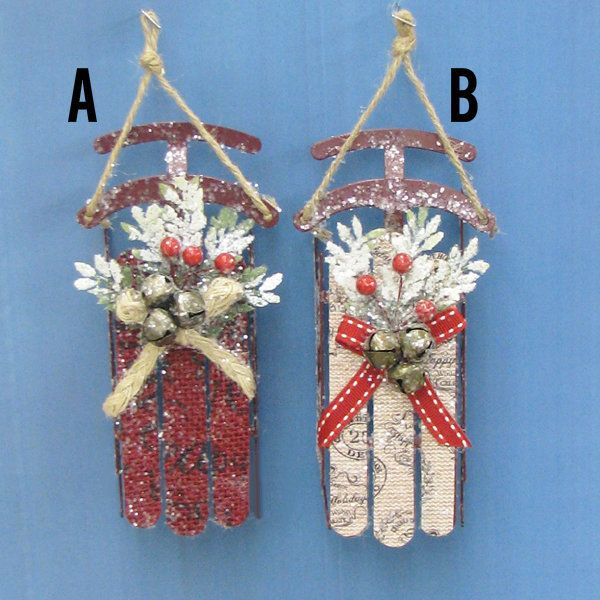 Country Marketplace - Metal Sled Ornaments, $6.99 (http://www.countrymarketplaces.com/metal-sled-ornaments/)