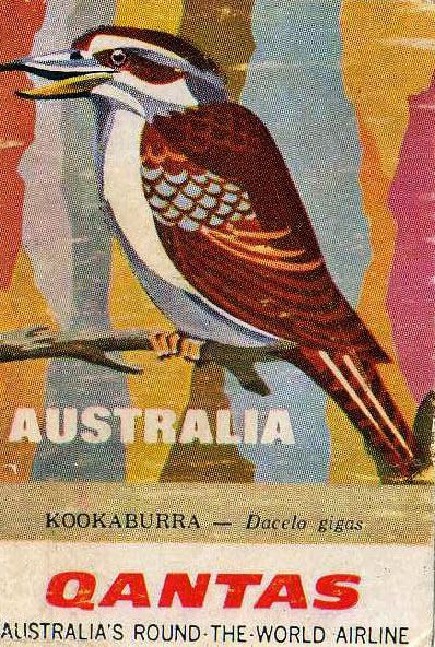 Qantas Airline - Australia.  kookaburra  Repinned by http://sailorstales.wordpress.com/