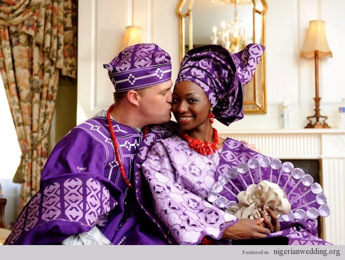 Nigerian Traditional Engagement party Colors: which takes place days sometimes months the saturday white wedding. Aso-Oke (Nigerian Fabric)