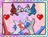 Latios x Latias stamp by eeveexriolu.deviantart.com on @DeviantArt. #Pokemon #Latias #Latios #Legendary #fanart #Kawaii #Cute #Stamps