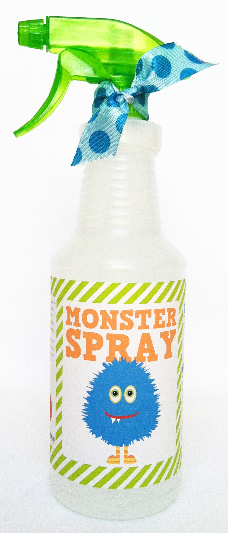 Monster Spray - If kids are scared of monsters when it's time for bed, make Monster Spray. Just spray it in all the places monsters might hide (in the closet, under the bed, etc.) to make it safe.