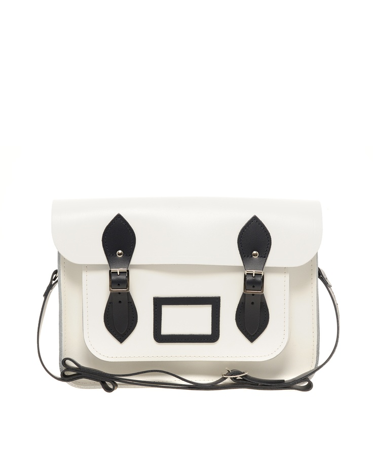 in black & white // Cambridge Satchel: Asos Contrast, Contrast Trim, Style, Cambridge Satchel, Satchel Company, Cambridge Contrast, Awesome Handbags
