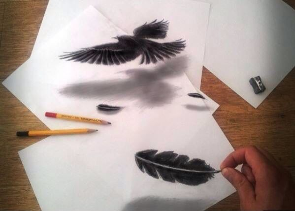 I love this 3d art. This is not mine. I hope i can make this one..