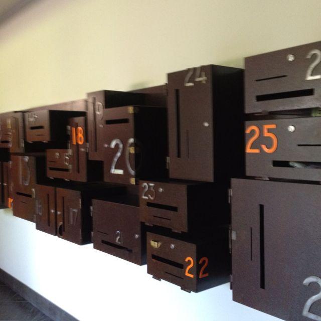 Italian apartment mailboxes