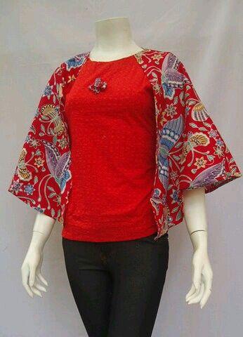 Blus Cape Allaize Lingkardada 100cm Bahan Katun Harga 100rb #batikbagoes #batiksolo #blus #batikindonesia #batikmodern #seragambatikkantor #fashion