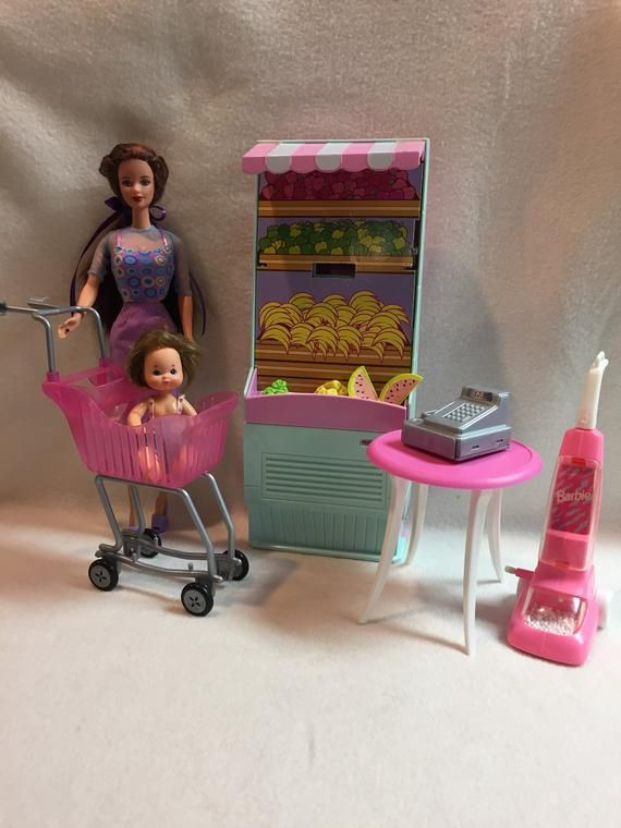 """Barbie Dolls 1 x New Mini Supermarket Shopping Cart For 12/"""" 1//6 Action Figures"""