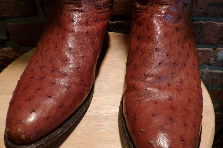 Dan Post Ostrich Men's Boots, Vintage Dan Post, Western boots, men's Dan Post boots size 9.5 D, Men's boots, country boots, Cowboy boots by Morethebuckles on Etsy