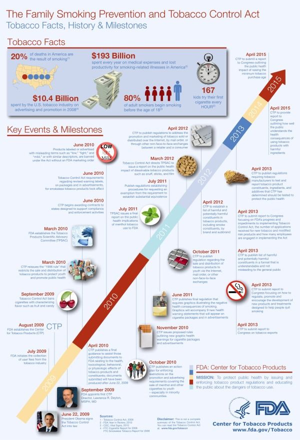 Cool Infographics - Blog - Gov 2.0 Infographic: Bringing the Tobacco Control Act to Life
