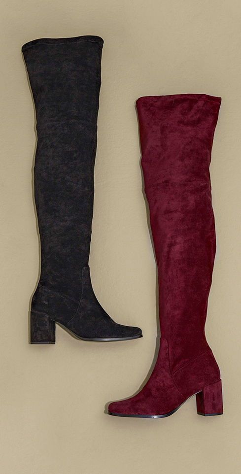 71e025c7590 Long Tall Sally Cordelia Over The Knee Sock Boot | Large Size ...