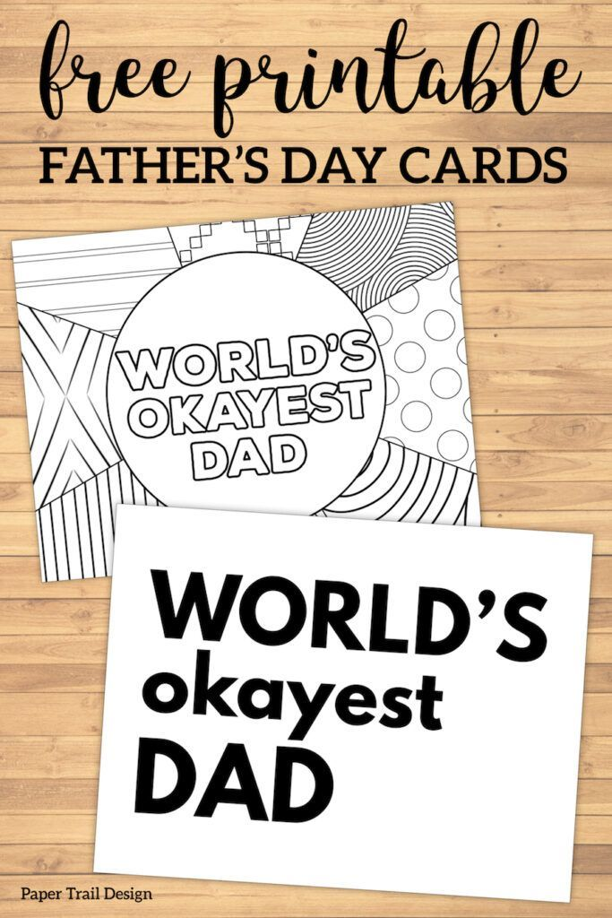 photograph relating to Free Printable Funny Father's Day Cards identify Worlds Okayest Father Fathers Working day Card Printable Producing a