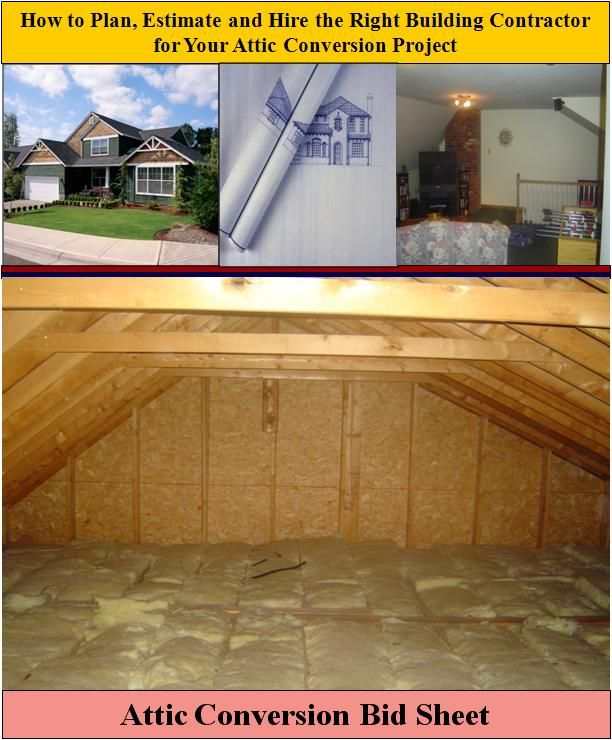 161 best images about attics on pinterest attic for Home construction bids