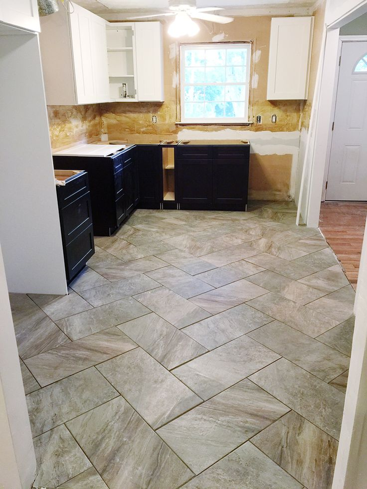 Tips to lay a Herringbone Pattern Tile Patterned kitchen