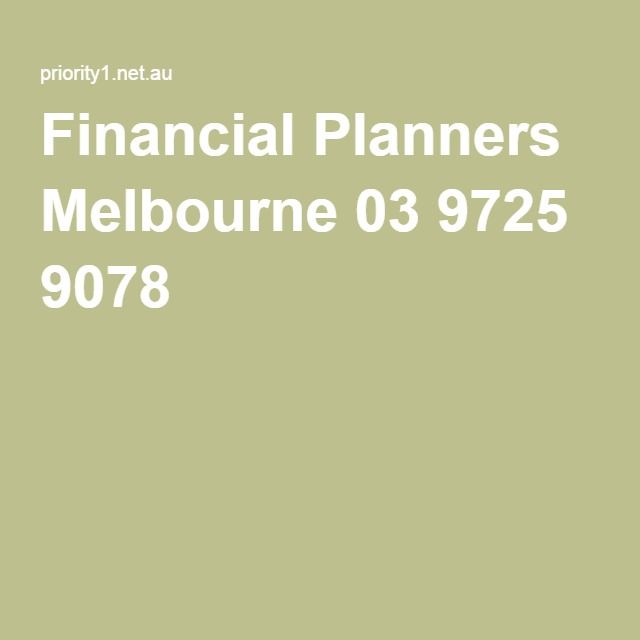 Financial Planners Melbourne 03 9725 9078