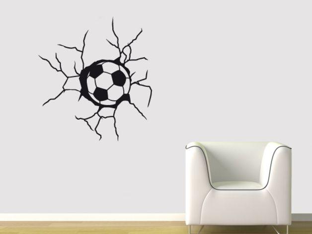 Wandtattoo - Wandtattoo Fußball Torwand - ein Designerstück von wandtattoo4all bei DaWanda