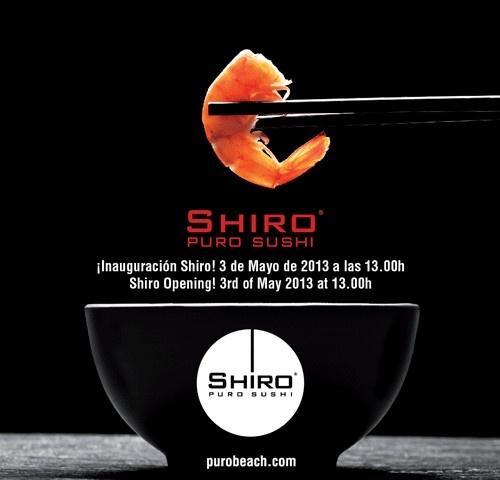 Shiro Restaurant Opening | 3rd of May | Purobeach Marbella