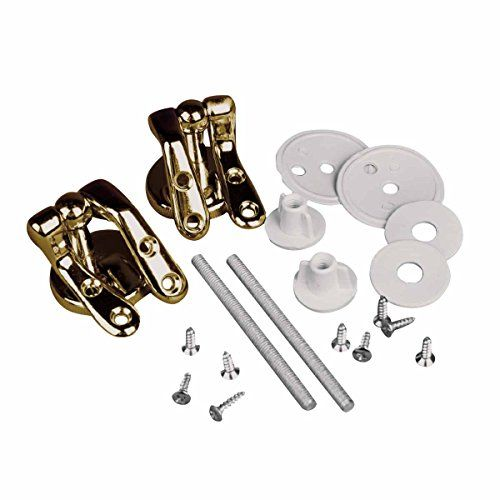 Solid Brass Pair Toilet Seat Hinge Replacement Gold PVD  Renovators Supply ** Check out this great product.