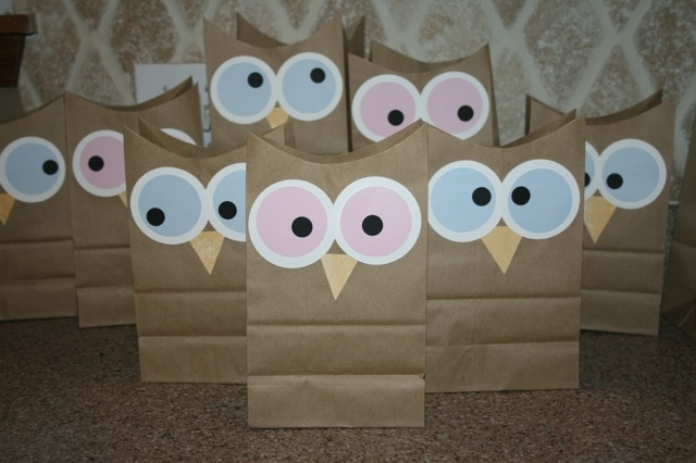 Modern yet Old-Fashioned: The NIGHT OWL Party  Popcorn Bags