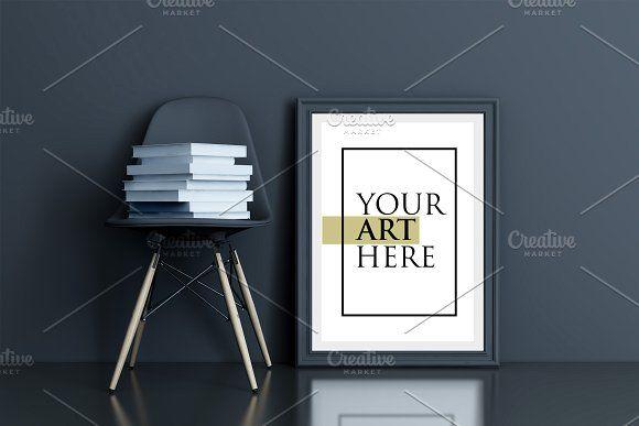 Frame Chair Generator Color Mockup Business Card Mock Up Business Cards Simple Poster Mockup