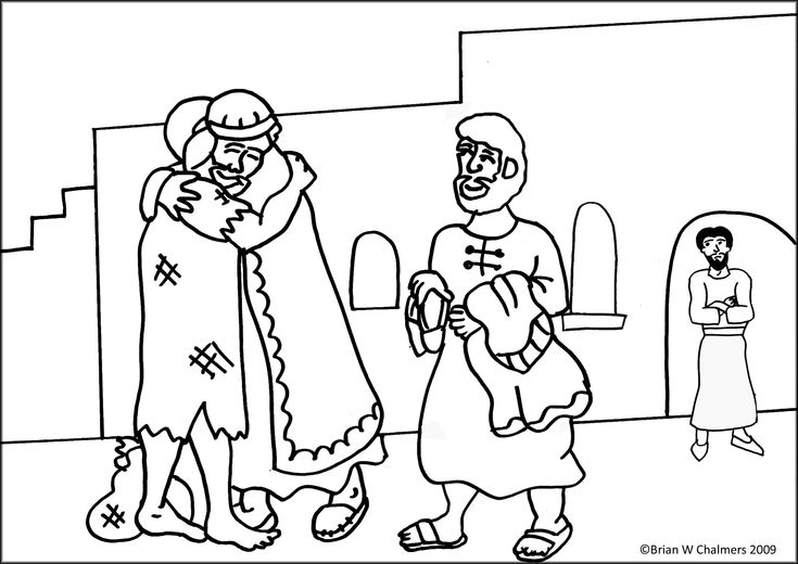 Prodigal Son Coloring Page   Prodigal Son Coloring Page #3