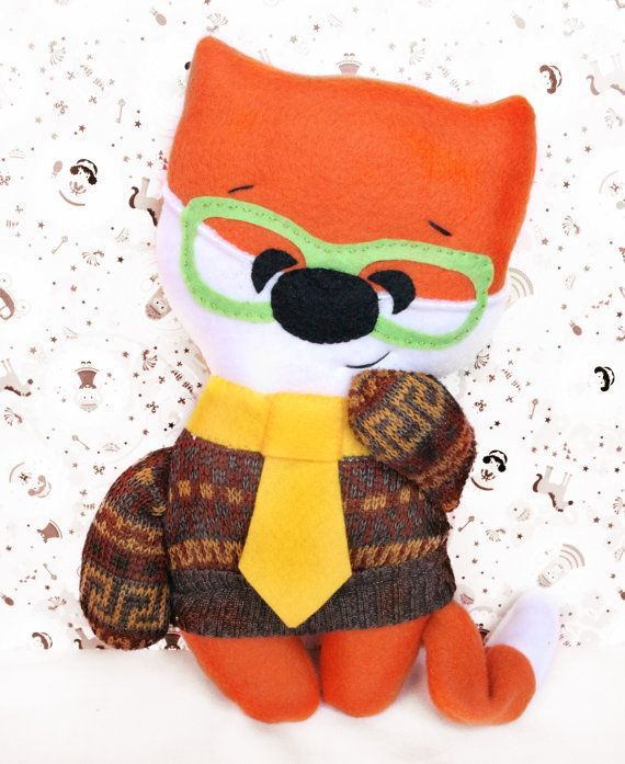 Stuffed Fox Toy Toddler Gift Stuffed by Fairybugcreativetoys