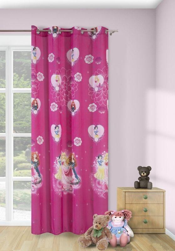 Zasłony gotowe do sypialni koloru różowego w księżniczki