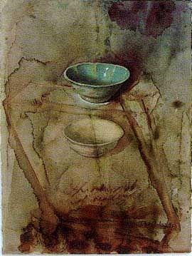 """유 Still Life Brushstrokes 유 Nature Morte Paintings - Rimbun Dahan -- Thornton Walker """"Two Malaccan Bowls"""""""