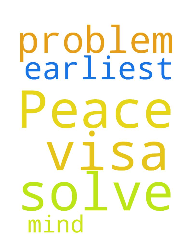 To solve our visa problem a at the  earliest. . Peace - To solve our visa problem a at the earliest. . Peace of mind. .. Posted at: https://prayerrequest.com/t/NNx #pray #prayer #request #prayerrequest