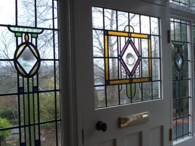 Art Deco Stained Glass Panels This Art Deco Leaded Glass