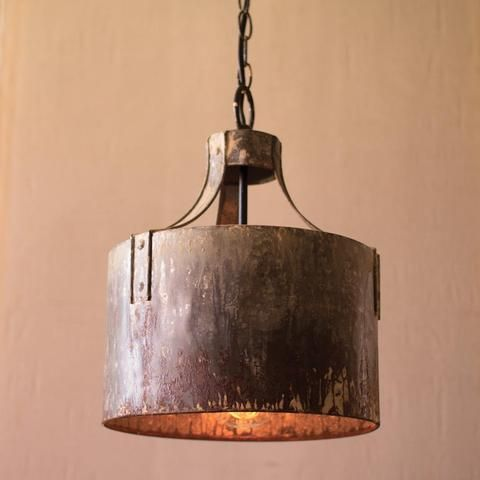 A beautiful piece of accent lighting. The Metal Drum Pendant Chandelier is rustic through and through. Each pendant has UL listed parts and comes with a metal ceiling cap and 6' cord with a plug that