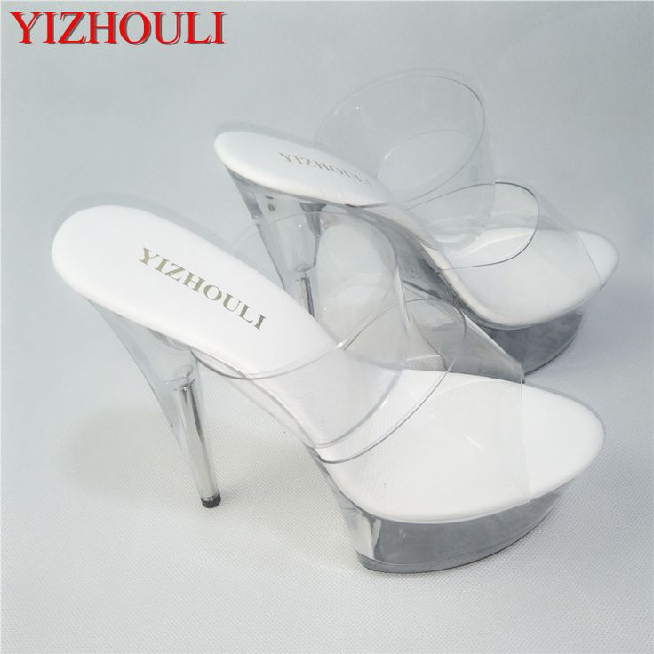 15 cm high-heeled sandals wedding reception Crystal female club super high heels Europe and the United States Summer slippers