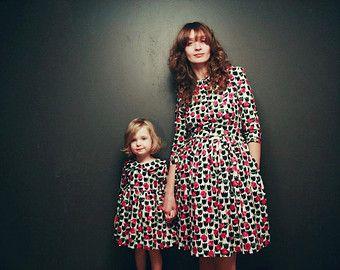 Matching Mother and Daughter Dresses Vintage Denim par OffOn