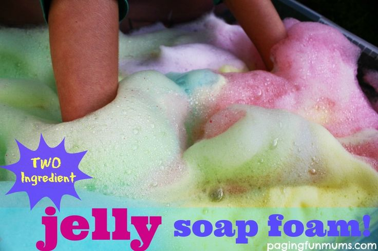 Two Ingredient Jelly Soap Foam! Awesome Messy Fun!