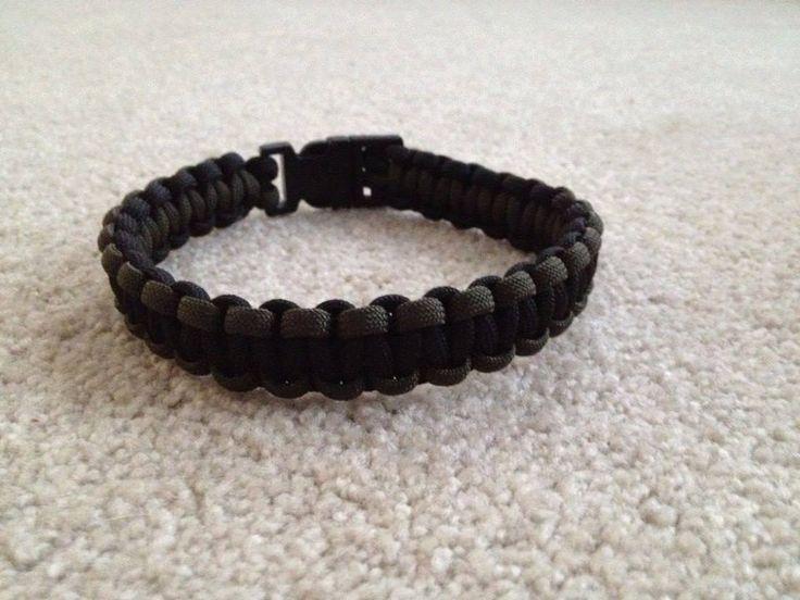 Paracord Dog collar Borwn and Black