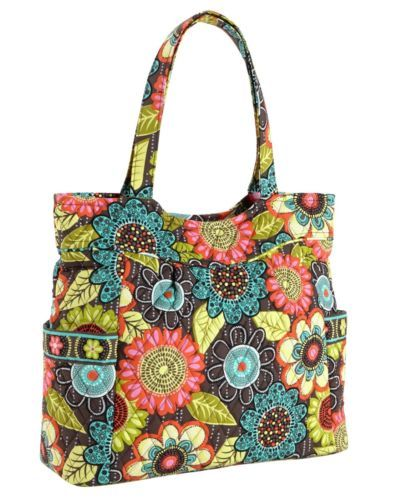 """I love this Vera Bradley. I have one in this color but not in this style. I think that it is the perfect """"going to the grocery store"""" bag."""