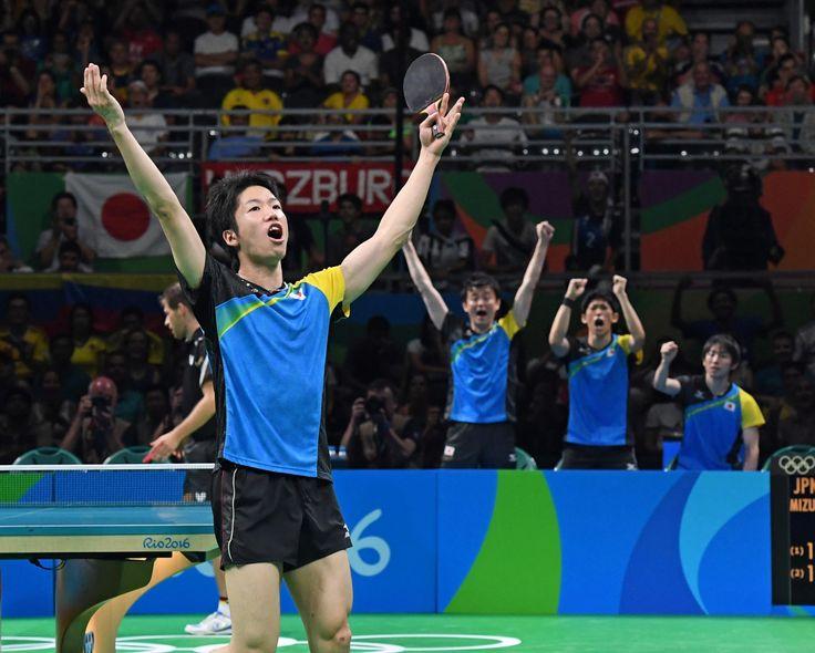 卓球・水谷、公約通りの五輪で「神ラリー」 独シュテーガーと24本 #卓球 #リオ五輪