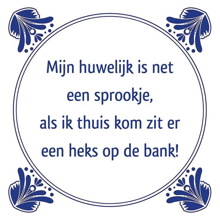 Tegeltjeswijsheid.nl - een uniek presentje - Mijn huwelijk is net een sprookje