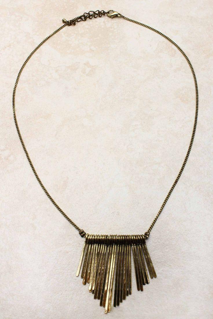 Golden Liv Necklace   Emma Stine Jewelry
