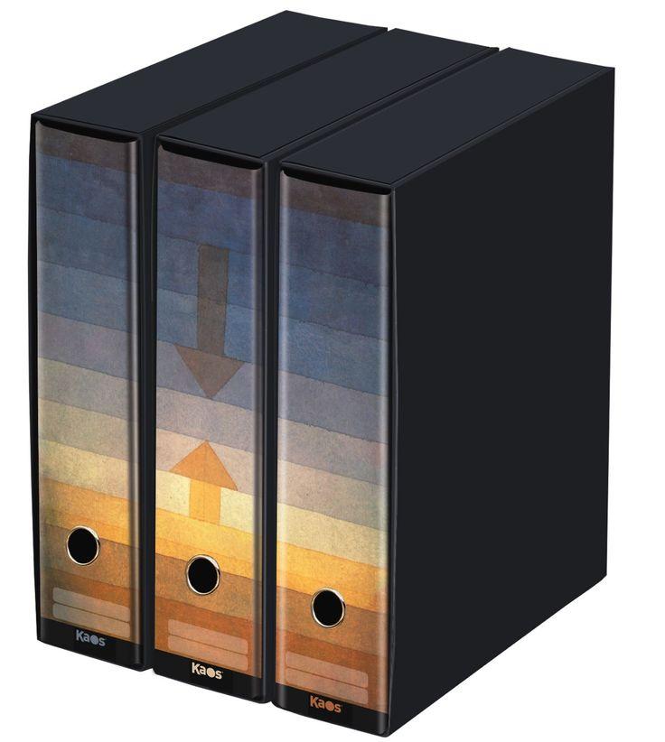 KAOS - Set da 3 raccoglitori ad anelli dorso 8 -SEPARAZIONE, PAUL KLEE - Misure Set: 26.8x35x29 cm