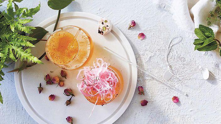 Persian princess rosewater and saffron water kefir   Drink recipes   SBS Food