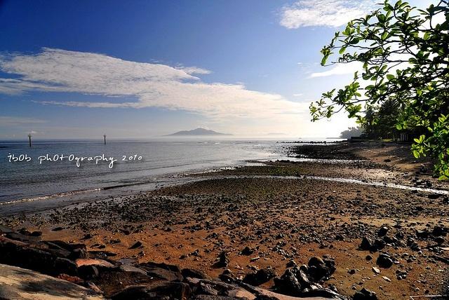 Landscape of Manado Beach at Manado, Indonesia