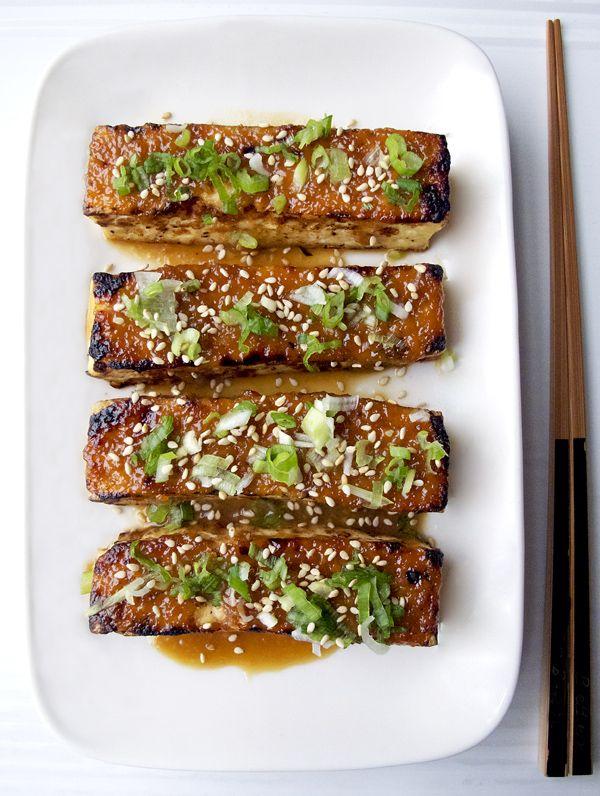 Tofu dengaku - tofu with miso glaze - Pickled Plum