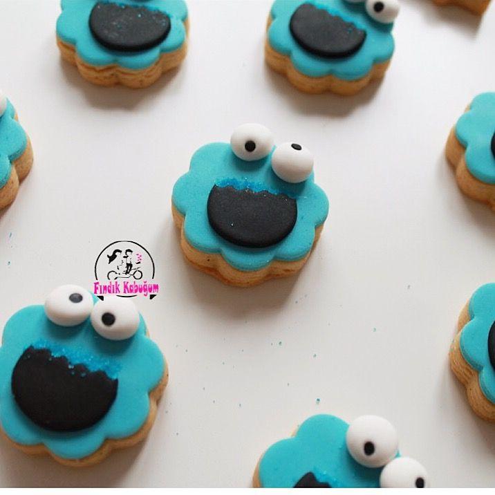 Kurabiye Canavarı / Kurabiye Canavarından Kurabiye :))  Çocuk Kurabiyesi / Kids Cookie / Cookie Monster